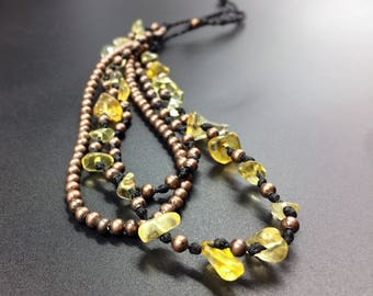 Ankle bracelet of Citrine