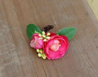 Flower Ring, Floral Ring, Handmade Flower Ring, Flower Ring Corsage, Bridal Jewelry, Boho Flower Ring, Boho Wedding Jewelry, Flower Jewelry