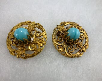 Earrings ' baroque Earrings: turquoise.