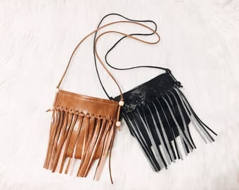 Kid's Fringe Crossbody Purse - kids accessories - birthday gift - boho purse