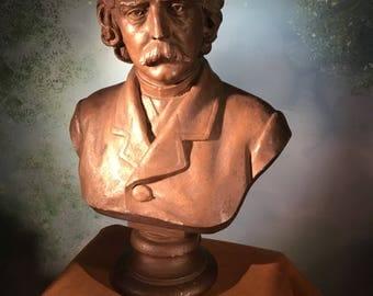 1888 Jakob Fjelde plaster bust of ?  ~ Minnesota