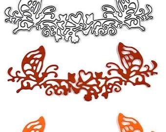die pattern fringe lace butterfly, die cutting metal scrapbooking