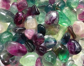 High Quality Tumbled Rainbow Fluorite