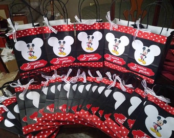 Candy Bags Mickey Mouse Goodie Bags Custom candy bags Mickey Candy bags 12 bags for 18 USD