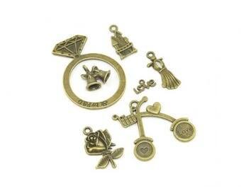 14 charms themed romantic Bronze 7 designs