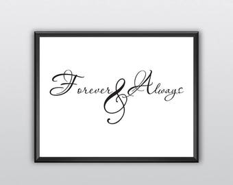50% Off Always and Forever Printable Wall Art Always and Forever Wall Print Always and Forever Wall Decor (T209)