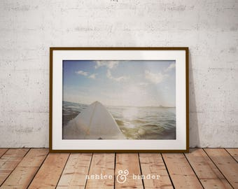 Surf Photography, Beach Wall Art Print, Ocean Water Surfing, Coastal Decor, Digital Download, Large Printable Poster, Color Photography, Art