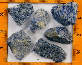 Rough Brazil Sodalite Blue Quartz 1-LB Lot (RRQSB-BB16)