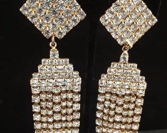 Vintage Earrings with Bling