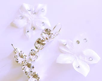 Wedding ceremony crystal earrings
