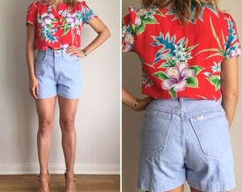 WEEKEND SALE Vintage LEE High Waist Jean Shorts Sz 9MED Fits 25-27