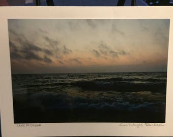 Lake Michigan; photography Greeting Card
