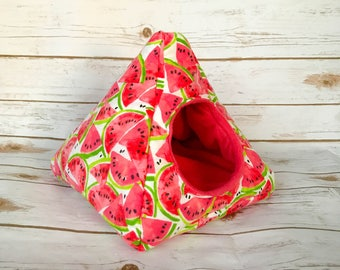 Hedgehog Bed | Guinea Pig Bed | Small Animal Bed | Hedgehog House | Guinea Pig House | Rat Bed | Tent | Teepee | Watermelon Design