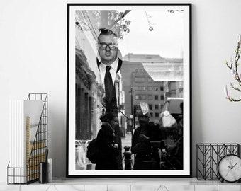London, Black & white Photography, Street Scene, Reflection, Photography Print, Home Decor, Street Photography, Wall Art, Art Print, Decor
