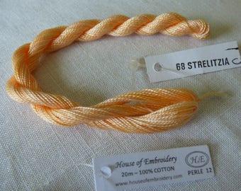 Beaded No. 12 HOUSE OF EMBROIDERY collar 68(c) STRELITZIA