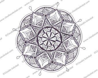 Printable Mandala Printable Coloring Page