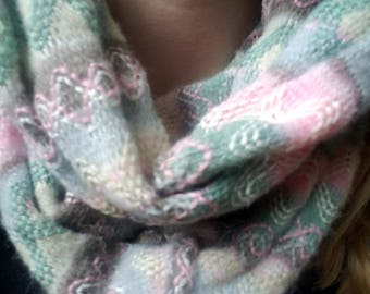 Zigzag Muticolored Winter Infinity Scarf