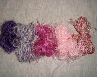 set of 5 wires and/or Ribbon embroidery pink