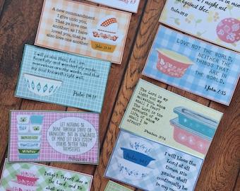 Bible Verse Cards-Pyrex