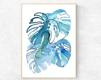 Monstera Watercolour Print - Digital Download