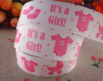 Ribbon baby girl 22mm the meter