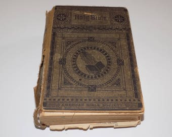 Antique 1886 Holy Bible by the American Bible Society