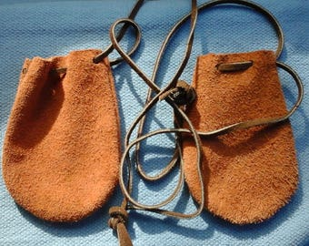 Leather Pouch Drawstring (for 2)
