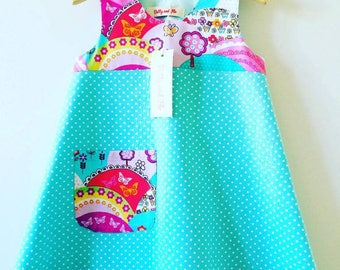 Play Dress in Happy Hills/Polka Dot Design Size 18-24 months
