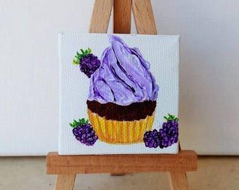 decorative mini treats cupcake painted in acrylic