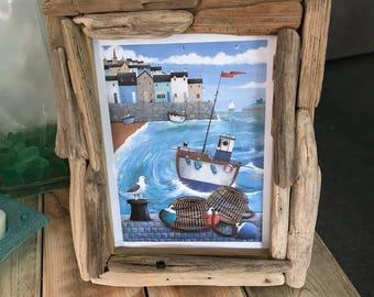 Handmade driftwood picture frames