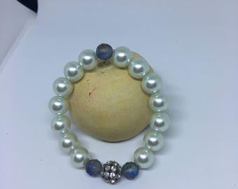 Women's Faux Pearl beaded bracelet