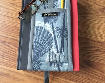 Unique Quilted Bookmark with Glasses Holder