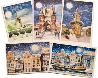 Christmas Cards Typical Dutch Pack of 5