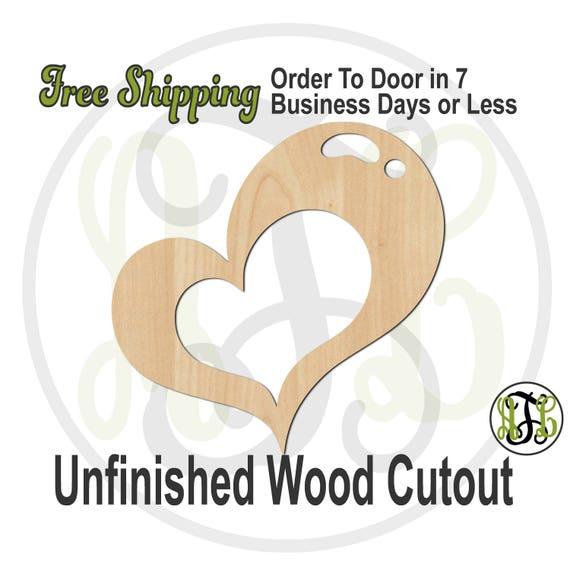 Open Heart Bubble- No. 110021- Valentine Cutout, unfinished, wood cutout, laser cut wood, wood cut out, Door Hanger, wooden sign, wall art