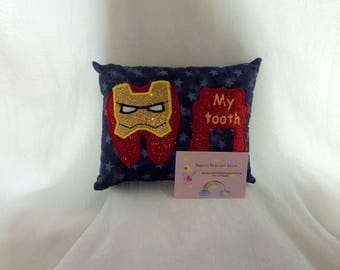 Tooth fairy pillow for boys ironman