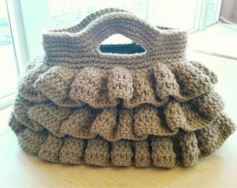 Big Ruffle Crochet Purse