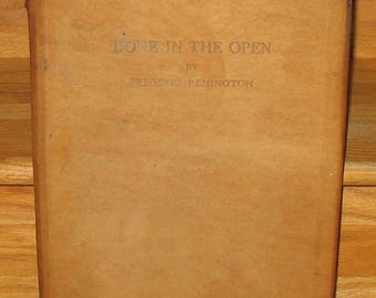 Rare Limited Edition 250 Copies Done In The Open Signed Frederic Remington 1902 Book Western Drawings Owen Wister