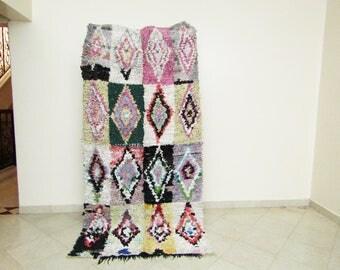 vintage boucherouite rug moroccan rug moroccan carpet berber rugs moroccan rug moroccan rug  tribal rug area rug
