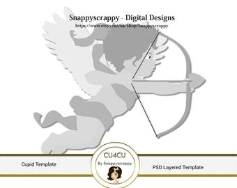 Cupid Photoshop Layered Templates - Love and Romance PSD Layers