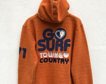 """20% OFF Vintage T and C Surf Designs Hawaii Hoodie / Women Hoodie / Town and Country Clothing / T and C Surfboards / Armpit 20"""""""