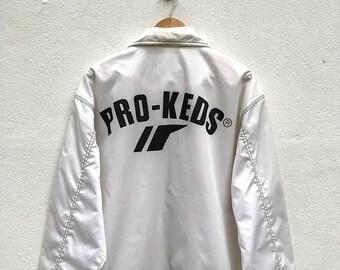20% OFF Vintage Pro-Keds Windbreaker Jacket / Pro-Keds Sportwear / Pro-Keds Big Logo / White Jacket