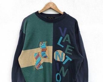 20% OFF Vintage Rudolph Valentino Sweatshirt Big Logo / Rudolph Valentino Spell Out / Italia Sweater / Rudolph Valentino Clothing