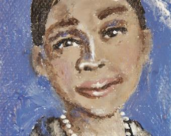 Bessie Smith Miniature Acrylic Painting