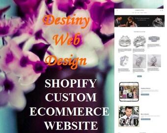 Custom 9 Page Professional Shopify Website Design Create Shopify Online Ecommerce Store Website  Affordable Web Designer for Shopify Website
