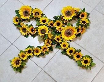 9.75 ft Sunflower Wedding Arch Decor/Centerpiece/Garland