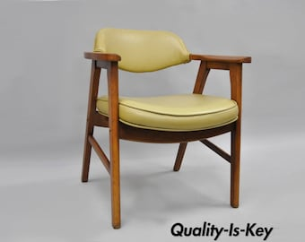 Vintage Mid Century Modern Danish Style Armchair Desk Office Chair Gunlocke A