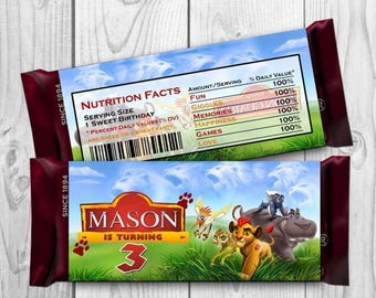 Lion Guard Candy Bar Wrapper - Lion Guard Chocolate label - Lion Guard Printables - Lion Guard Hershey Bar Wrappers