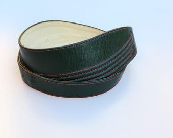 Green leather belt / High waisted belt / High waisted green belt / Dress green belt / Green Belt high waisted