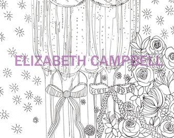 Wedding coloring book | Etsy