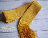 Gold shiny sash, Woven sash, Handwoven sash for embroidered blouse, For embroidered dress, Sweet 16th gift